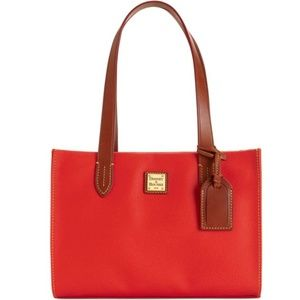 Dooney & Bourke Red Leather Eva Tote & Wristlet